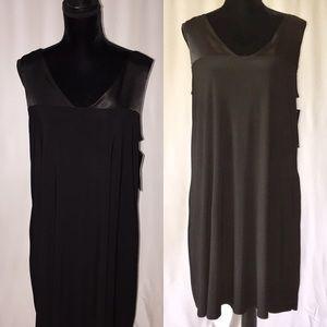 NWT Black Tunic Dress V-neck with Pockets Sz:Large